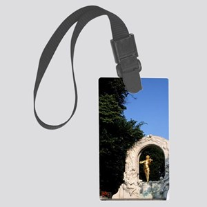 Life in Austria. Monument to Joh Large Luggage Tag